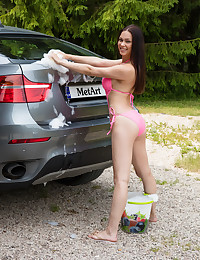 Marion naked in erotic CAR..