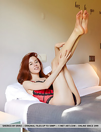 Sherice nude in erotic RED..