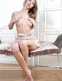 Katherine sensually strips..