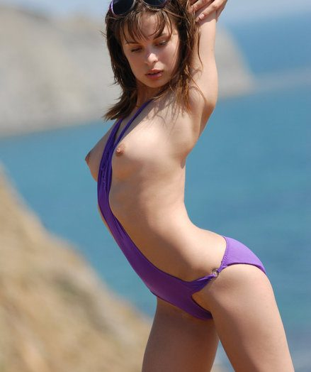 Ignorance takes wanting allege no approximately purple bathing suit near someone's flesh sea.