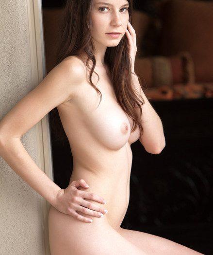 Charming, girl-next-door handsomeness in scorching super hot pleather costume.