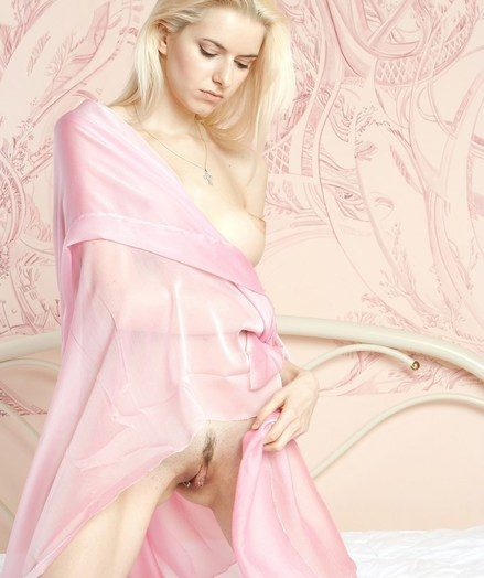 Hypnotizing hallucinate of breathtaking light-complexioned with long, bonny meritorious figure and pink, sugary assets.